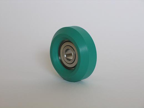 Rubber rolls type >V< with beveled surface