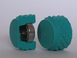 "Monolithic rubber rolls series ""75"", 75 Shore A green"
