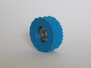 Rubber rolls type >X< with profiled surface