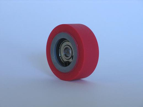 Rubber rolls type >GS< with plane surface, sidewise shouldered