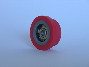 Rubber rolls type >ST< with stepped surface